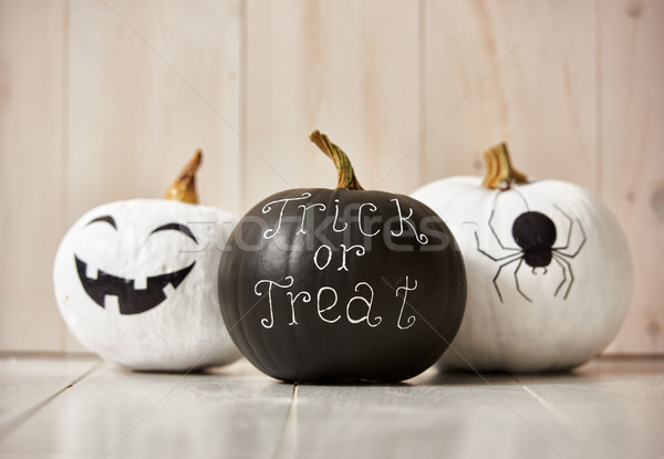 Pumpkins on white background Stock photo © choreograph