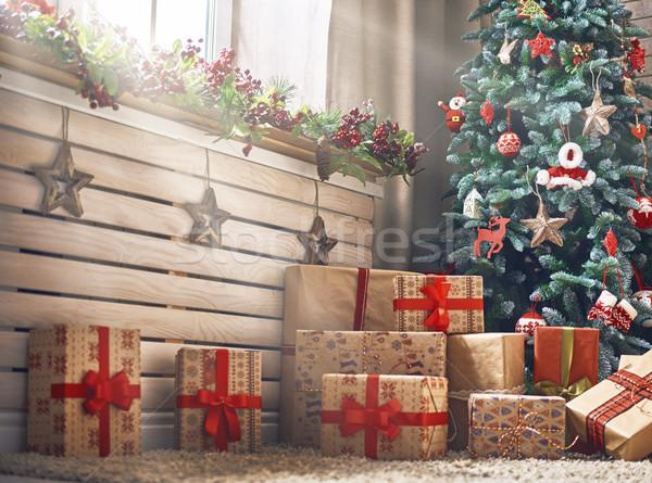 Habitación decorado Navidad alegre feliz año nuevo hermosa Foto stock © choreograph