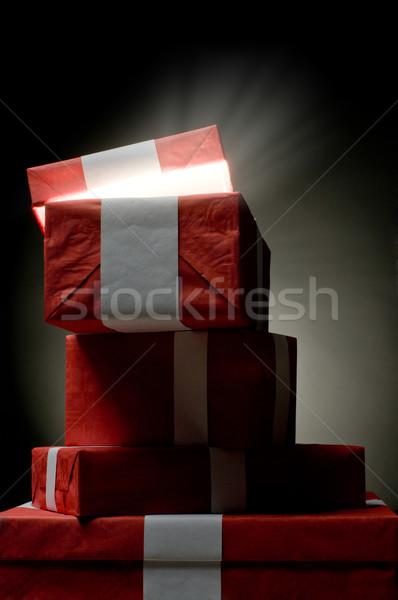Christmass presents from Santa  Stock photo © choreograph