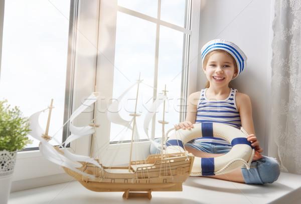 Photo stock: Rêves · mer · Voyage · adorable · peu · enfant