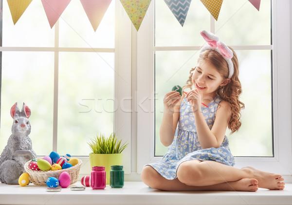 Сток-фото: ребенка · Живопись · яйца · Cute · мало