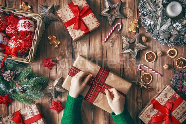 Stock foto: Weihnachten · Familie · Traditionen · heiter · glücklich · Feiertage
