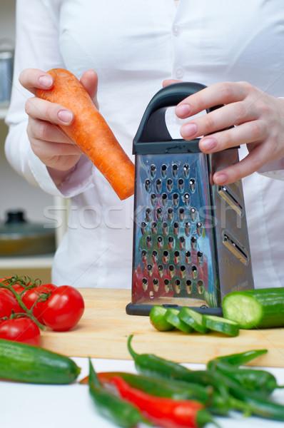 健康食品 女性 キッチン サラダ 女性 ストックフォト © choreograph