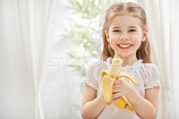 健康食品 女の子 黄色 バナナ 子 ストックフォト © choreograph