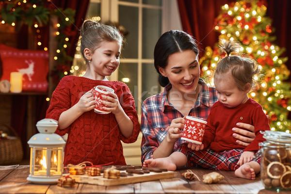 Time of family tea party Stock photo © choreograph