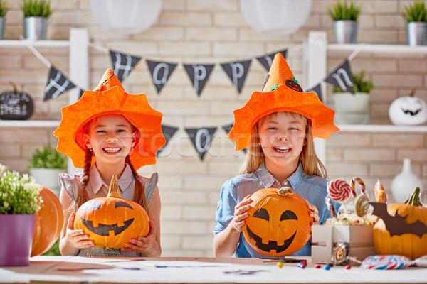 Ragazzi halloween cute piccolo bambini ragazze Foto d'archivio © choreograph