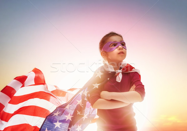 Patriotic holiday and happy kid Stock photo © choreograph