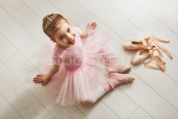 Stock photo: girl in a pink tutu