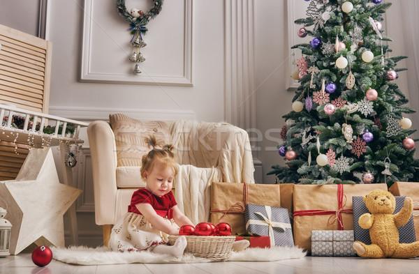 ストックフォト: クリスマス · 陽気な · 幸せ · 休日 · かわいい