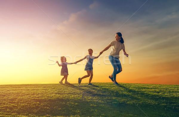 Familia naturaleza feliz amoroso verano Foto stock © choreograph