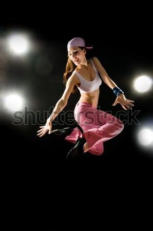Stockfoto: Moderne · jonge · mooie · meisje · dansen · mode
