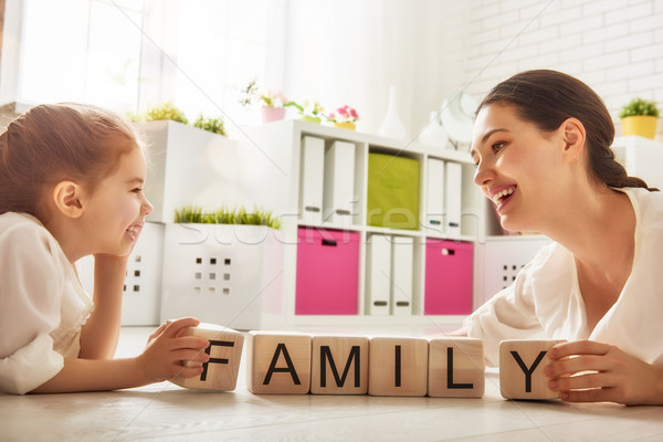 Happy loving family Stock photo © choreograph
