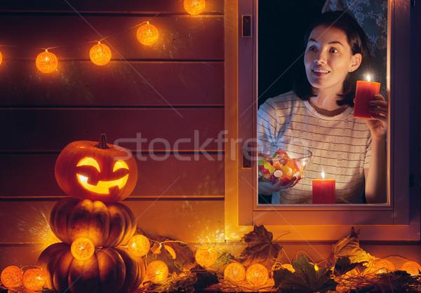 woman is preparing treats for kids Stock photo © choreograph
