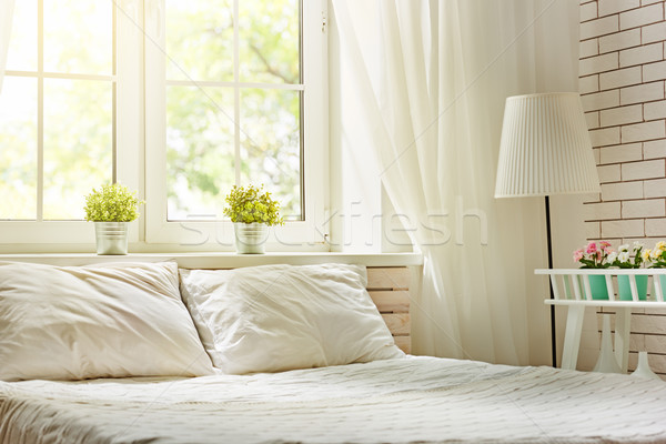 Bedroom in soft light colors Stock photo © choreograph