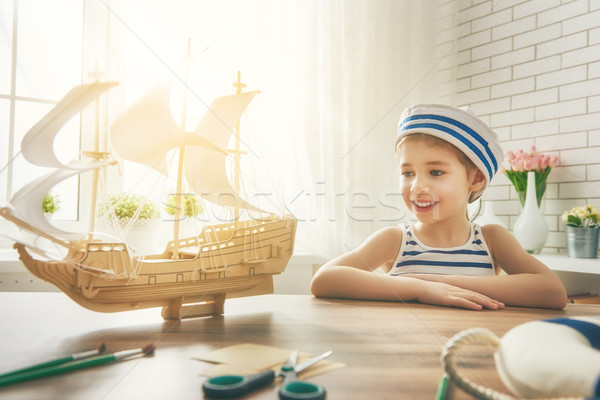 Dreams of sea, adventures and travel. Stock photo © choreograph