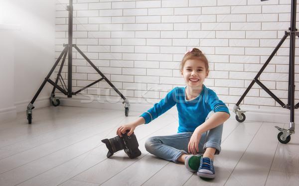 girl in photo Studio Stock photo © choreograph