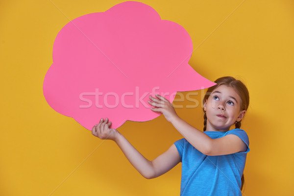 girl with cartoon thought Stock photo © choreograph