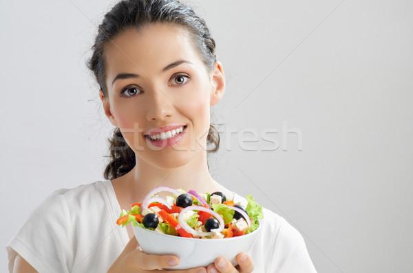 Mangiare sano alimentare bella ragazza donna ritratto testa Foto d'archivio © choreograph