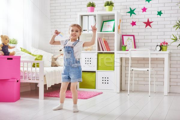 girl plays at home Stock photo © choreograph
