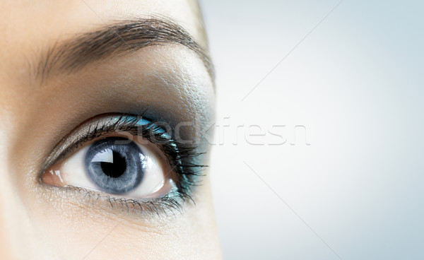 Beleza olho macro imagem mulher moda Foto stock © choreograph