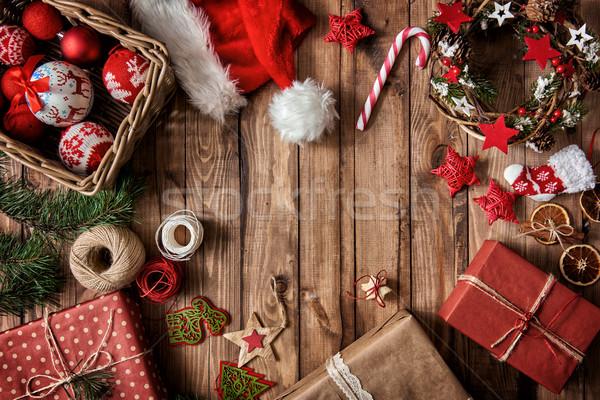 Stockfoto: Presenteert · snoep · christmas · ornamenten · vrolijk · gelukkig