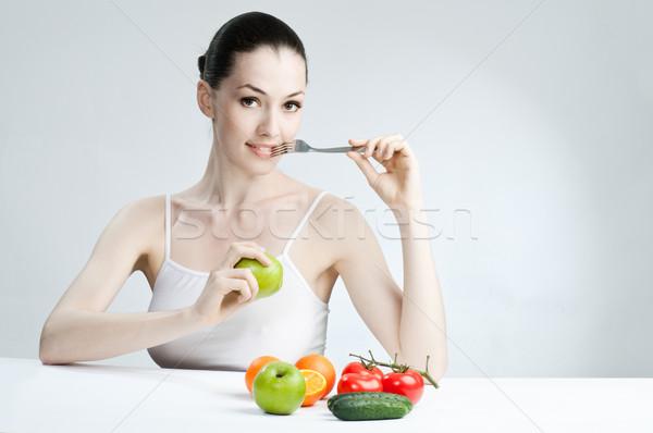 eating healthy food Stock photo © choreograph