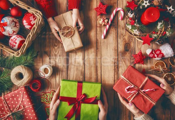 Natale famiglia tradizioni allegro felice vacanze Foto d'archivio © choreograph