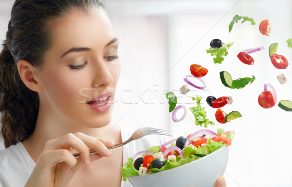 Stock photo: eating healthy food