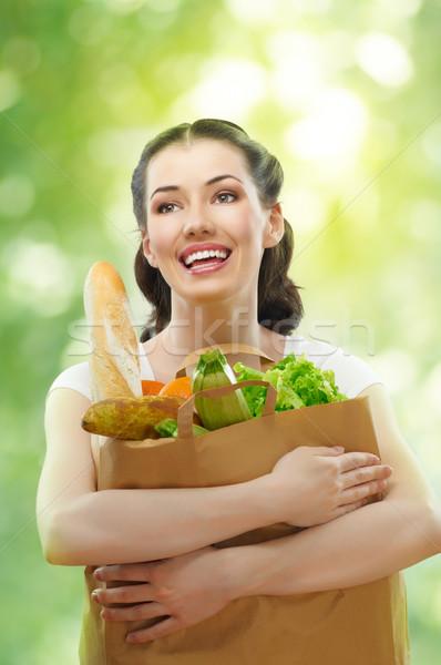 bag of food Stock photo © choreograph
