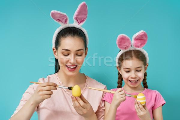 семьи Пасха счастливым праздник матери дочь Сток-фото © choreograph
