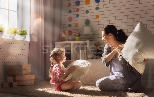 Stok fotoğraf: Mutlu · seven · aile · mutlu · aile · anne · çocuk