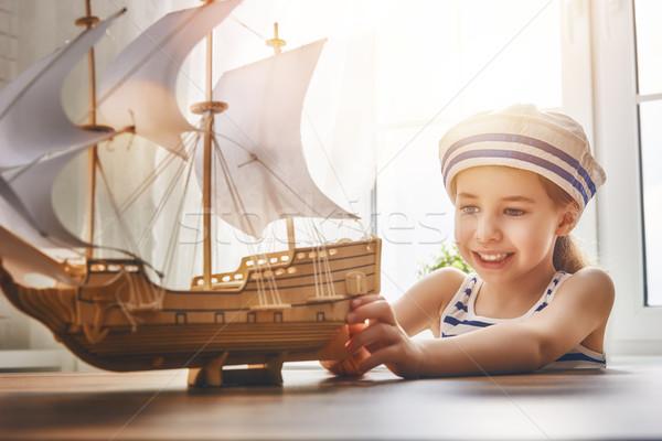 dreams of sea, adventures and travel. Stock photo © choreograph