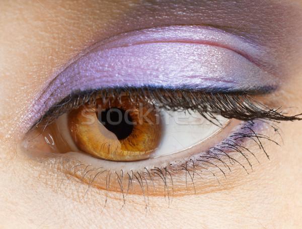 Belleza ojo macro imagen luz piel Foto stock © choreograph