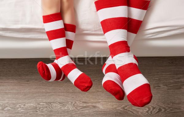 foot in the socks Stock photo © choreograph