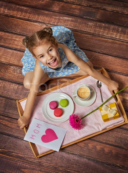 Feliz dia das mães criança mamãe feliz férias Foto stock © choreograph