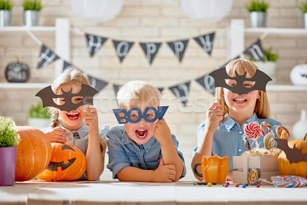 Ragazzi halloween cute piccolo bambini zucca Foto d'archivio © choreograph