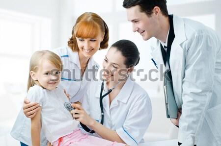 Orvos csapat tapasztalt rendkívül alkalmas orvosok Stock fotó © choreograph