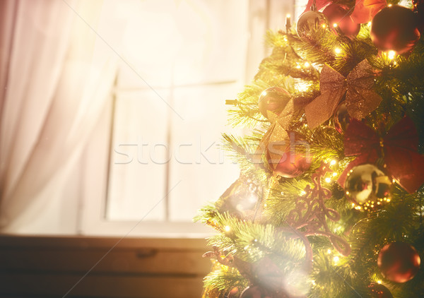 Christmas tree with toys baubles Stock photo © choreograph