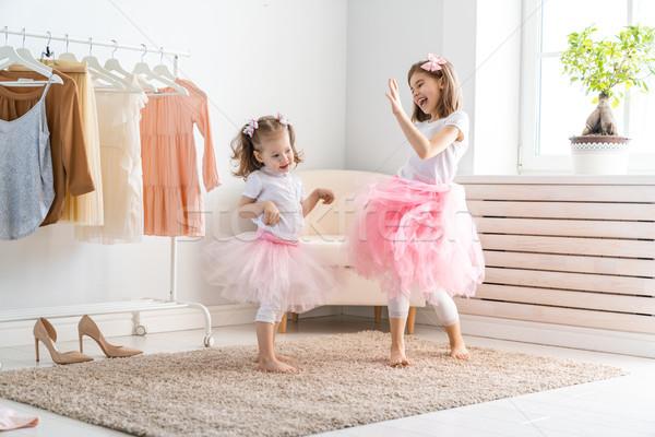 子供 幸せ 女の子 ドレッシング アップ ストックフォト © choreograph