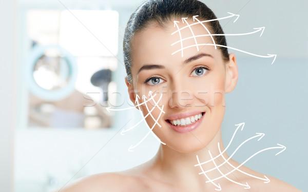 Egészséges arc szépség nő fürdőszoba test Stock fotó © choreograph