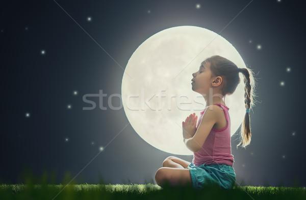девушки медитации йога Cute мало Сток-фото © choreograph