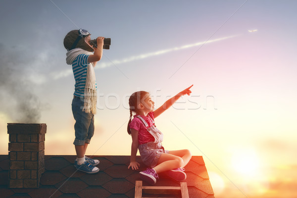Stock photo: Two little children