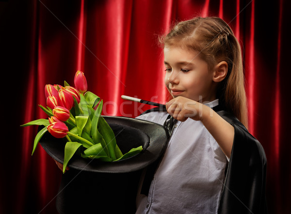 Mágico pequeno sorrir feliz criança diversão Foto stock © choreograph