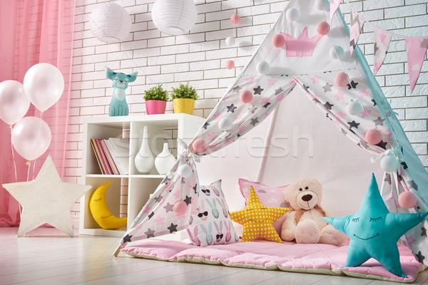 子供 ルーム 再生 テント 広々とした 少女 ストックフォト © choreograph