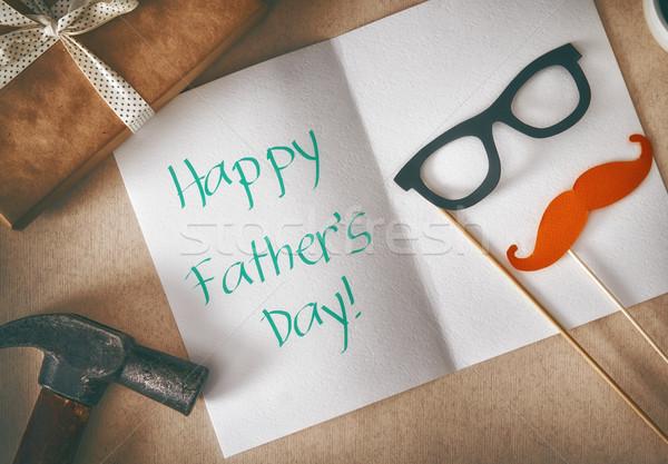 Happy father's day Stock photo © choreograph