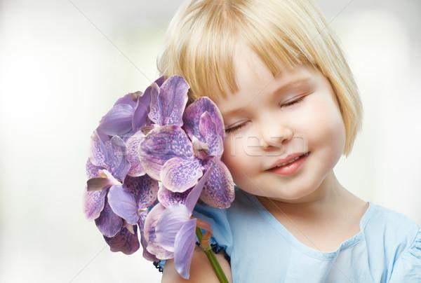 Fleur fille beauté visage nature Photo stock © choreograph