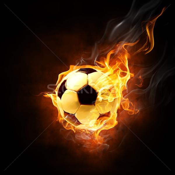 символ ярко черный огня Футбол спорт Сток-фото © choreograph