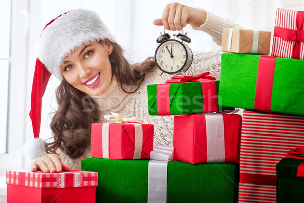 Stock photo: woman with gifts
