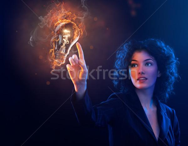 Ontdekking business licht schoonheid werknemer corporate Stockfoto © choreograph