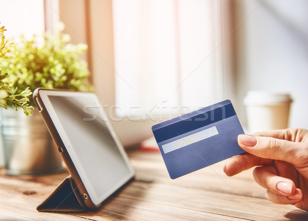 Stock photo: Online shopping concept.